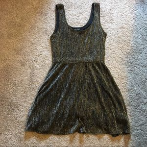 Wet Seal gold and silver sparkle dress